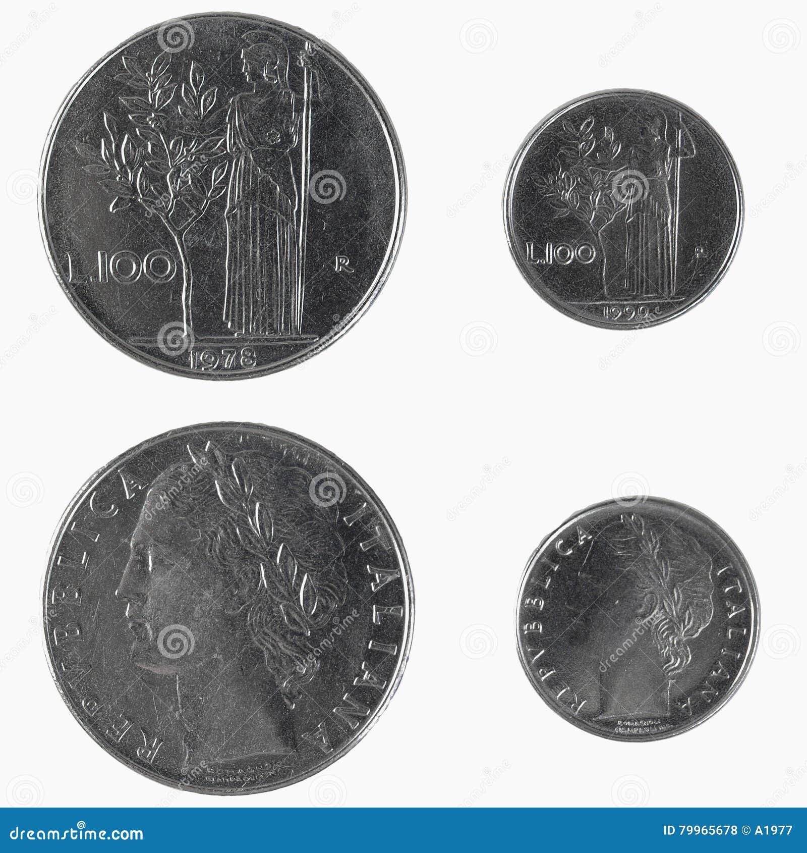 100 Italienische Lire Münze Stockfoto Bild Von Größe Earn 79965678