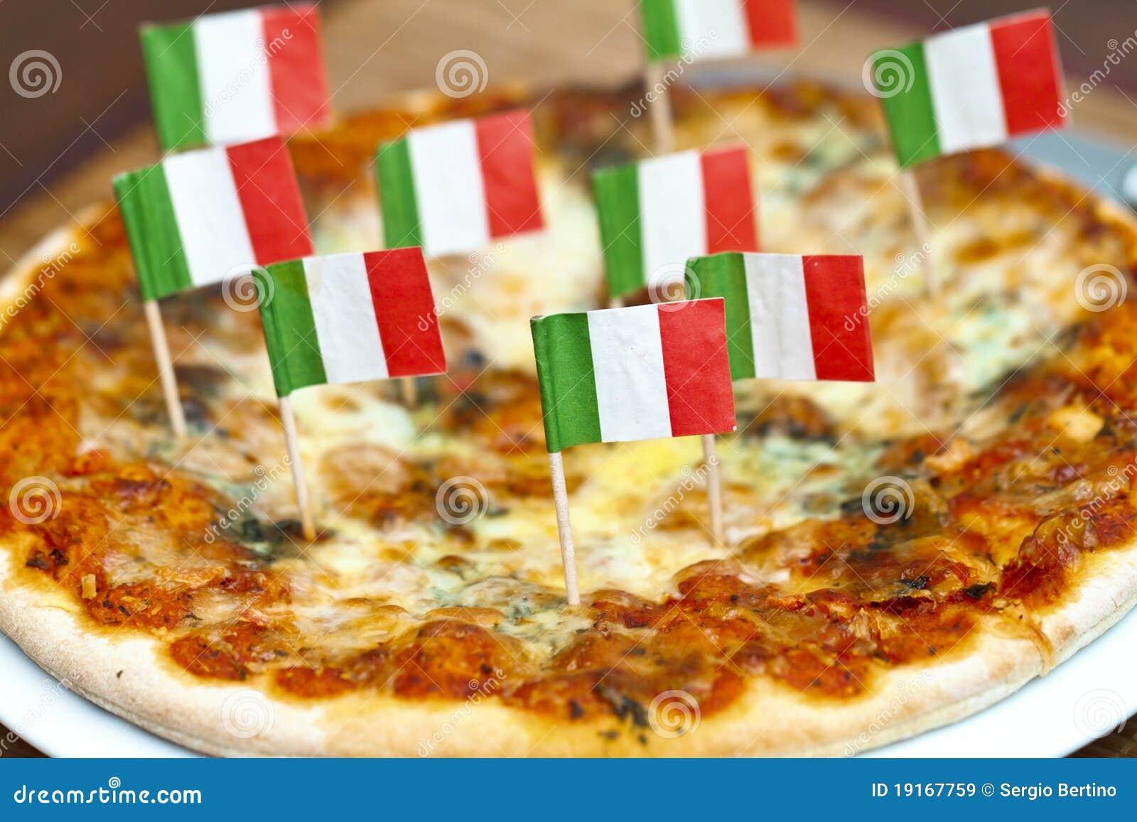 italienische pizza stockbild bild von markierungsfahne 19167759. Black Bedroom Furniture Sets. Home Design Ideas