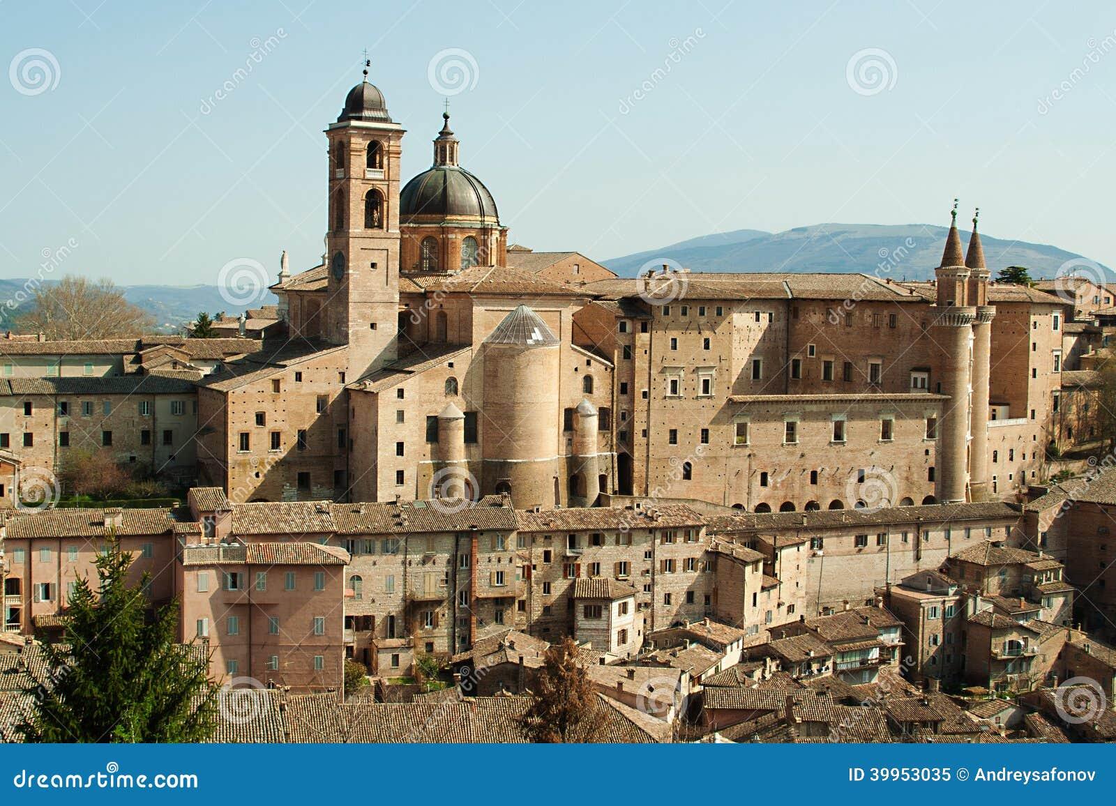 italienische stadt urbino stockbild bild von
