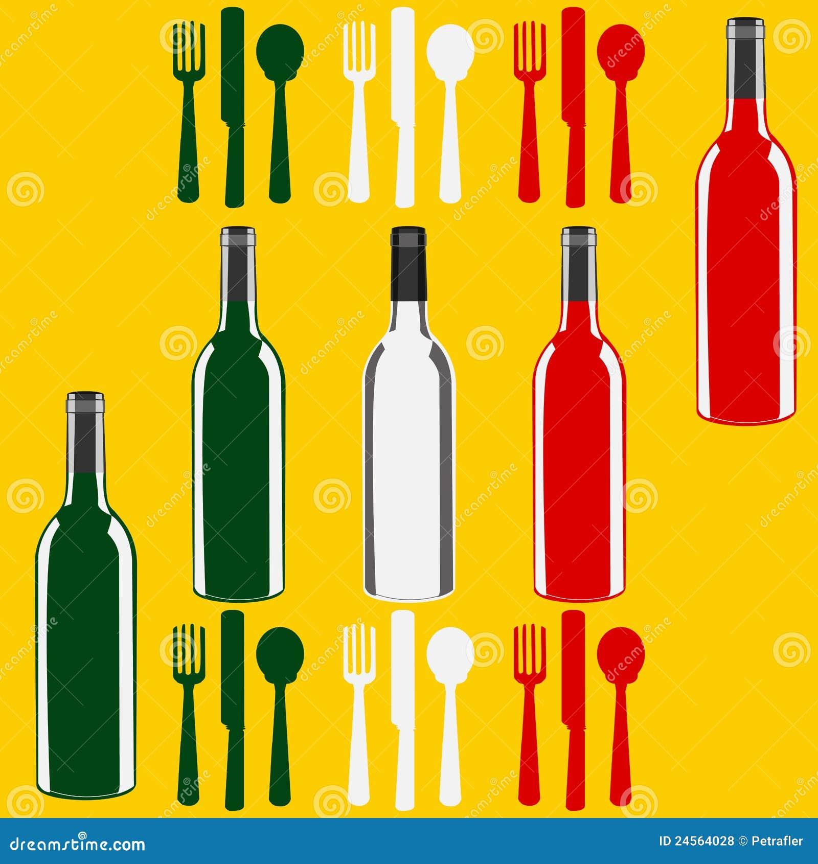 Italienische Wein-Menü-Schablone Vektor Abbildung - Illustration von ...