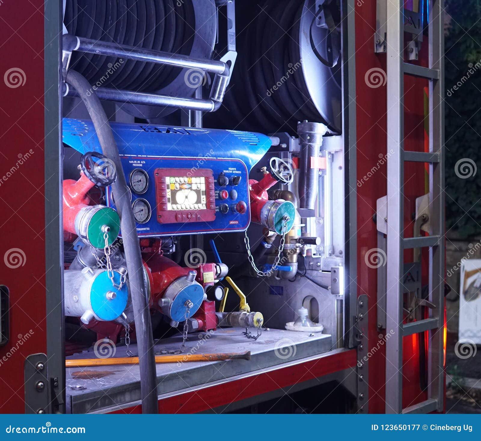 Italienischer Feuerwehr-LKW, Detail