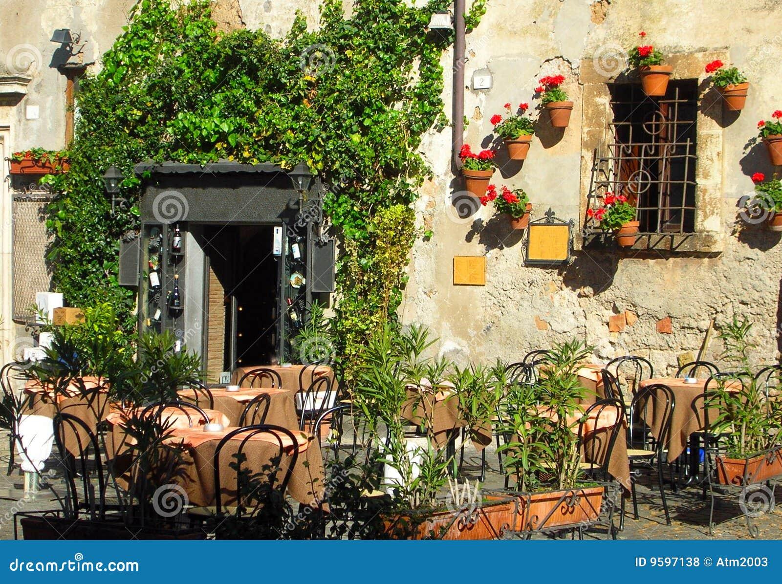 Italienischer im Freien Kaffee- und Weinstab