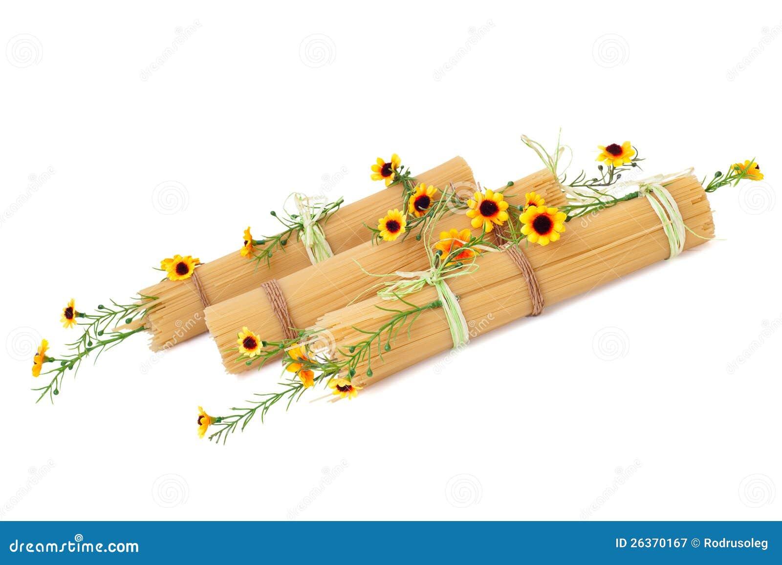 Italienischer Isolationsschlauch verziert mit den Blumen getrennt