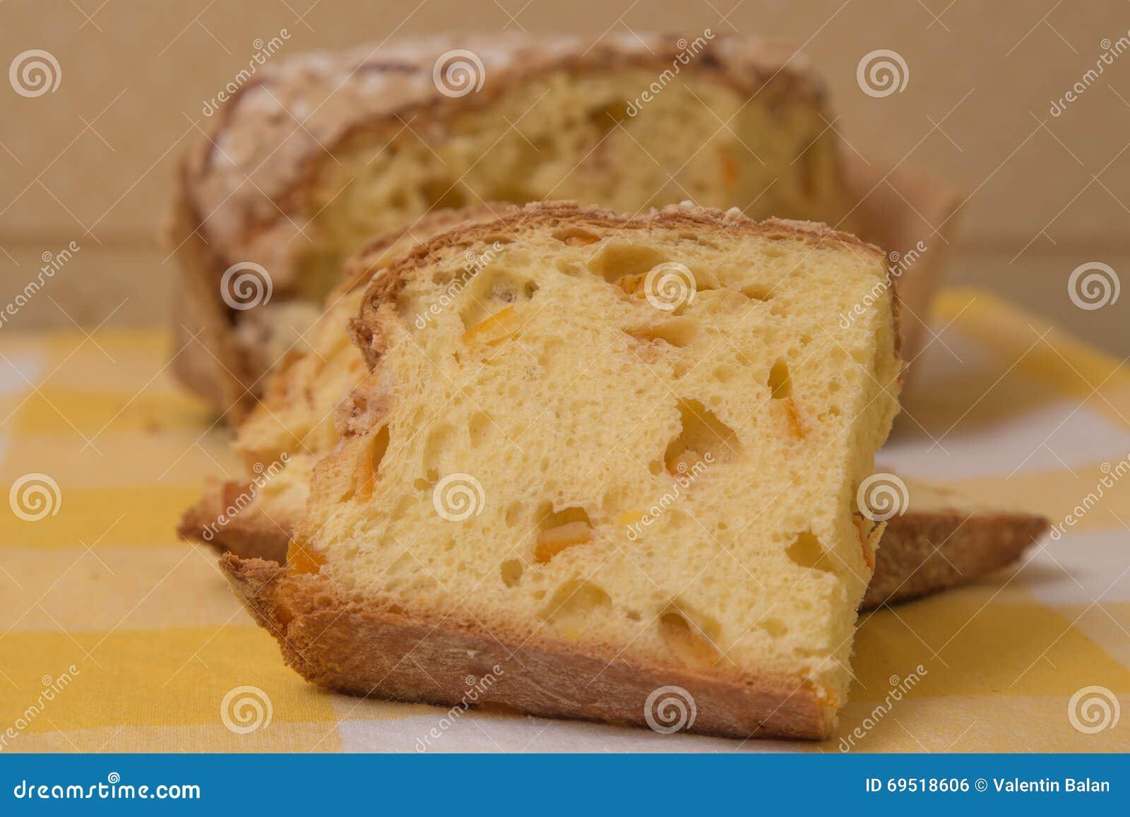 Italienischer Panettone Kuchen Stockfoto Bild Von Brot