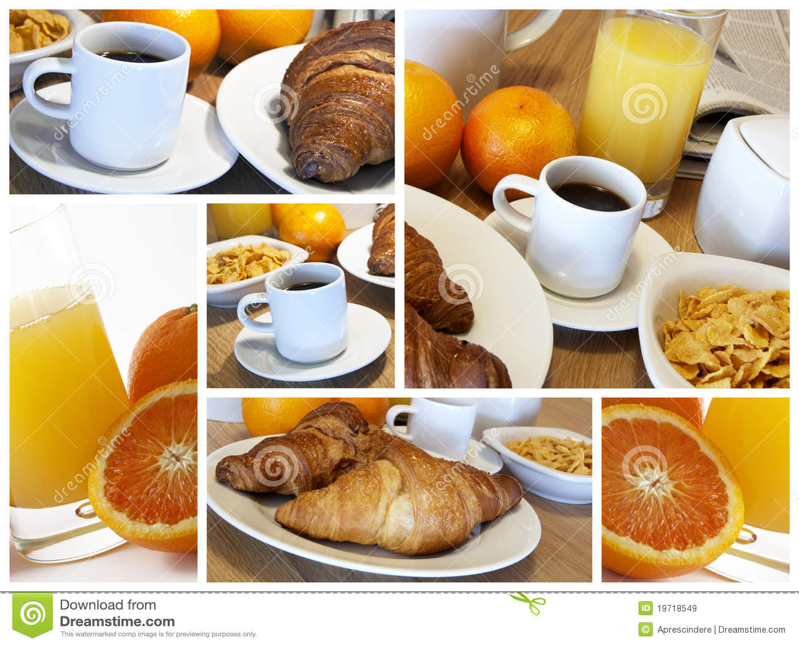 Italienisches Frühstück - Collage
