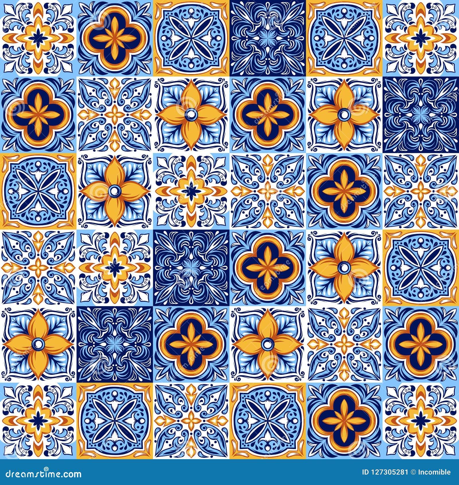 Italienisches Keramikziegelmuster Ethnische Volksverzierung