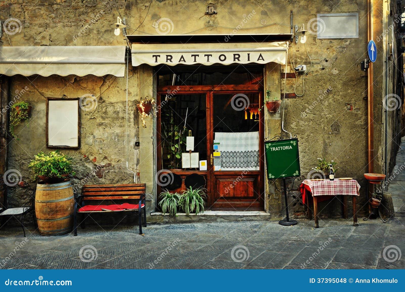 italienisches restaurant stockfoto bild von geb ude. Black Bedroom Furniture Sets. Home Design Ideas