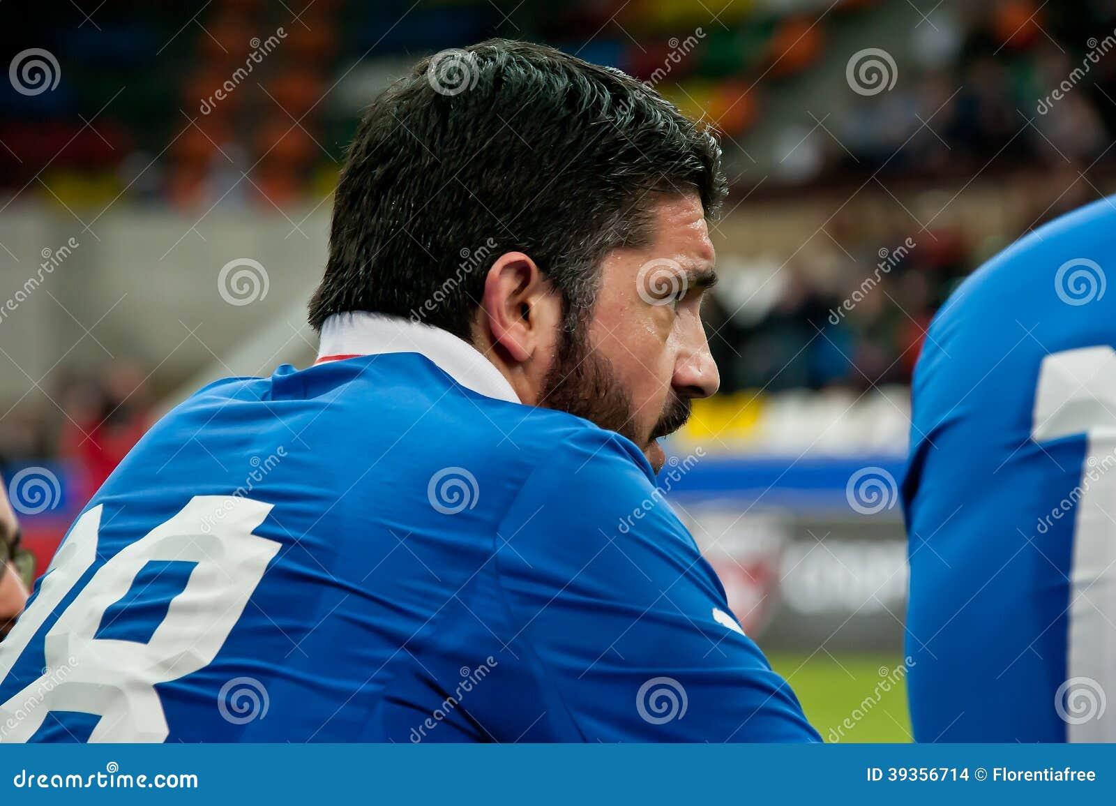Italiensk fotbollsspelare och legend Gennaro Gattuso