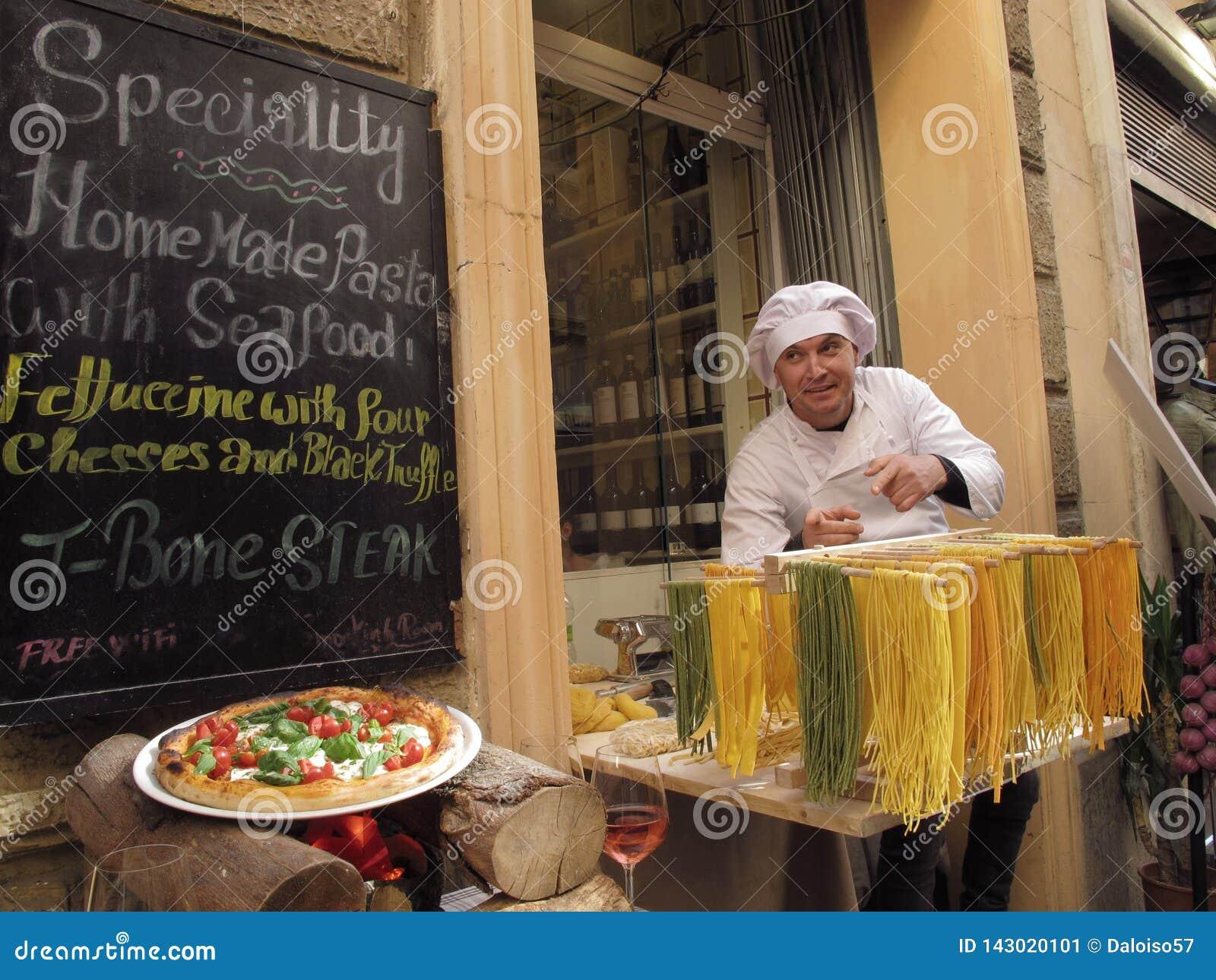 Italiensk mat på gatan