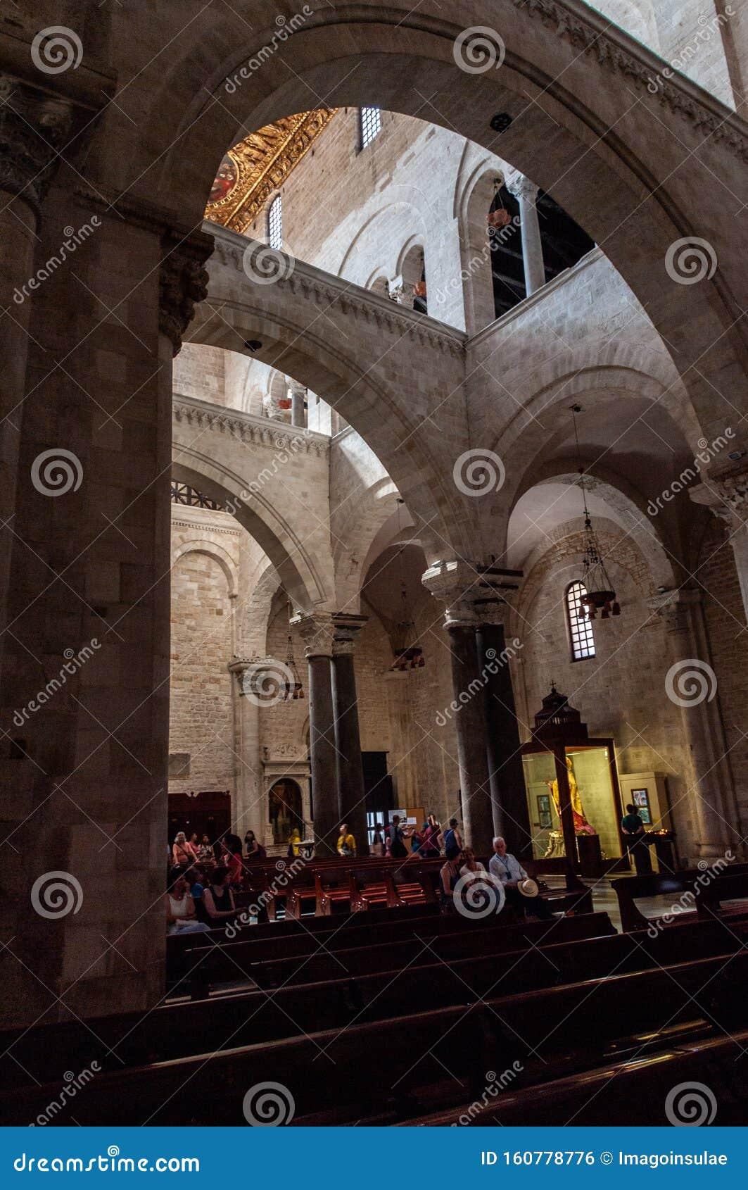 Italy. Bari. Basilica Of San Nicola Di Bari, 12th Century ...