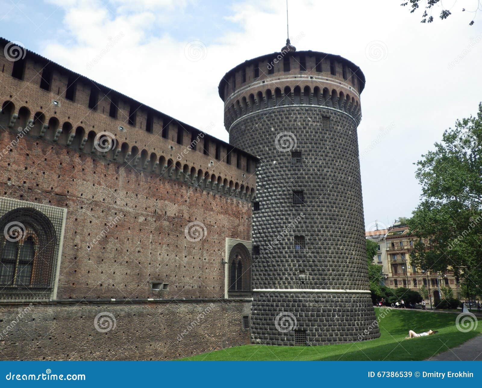 Italy. Castello Sforzesco di Milano. Tower
