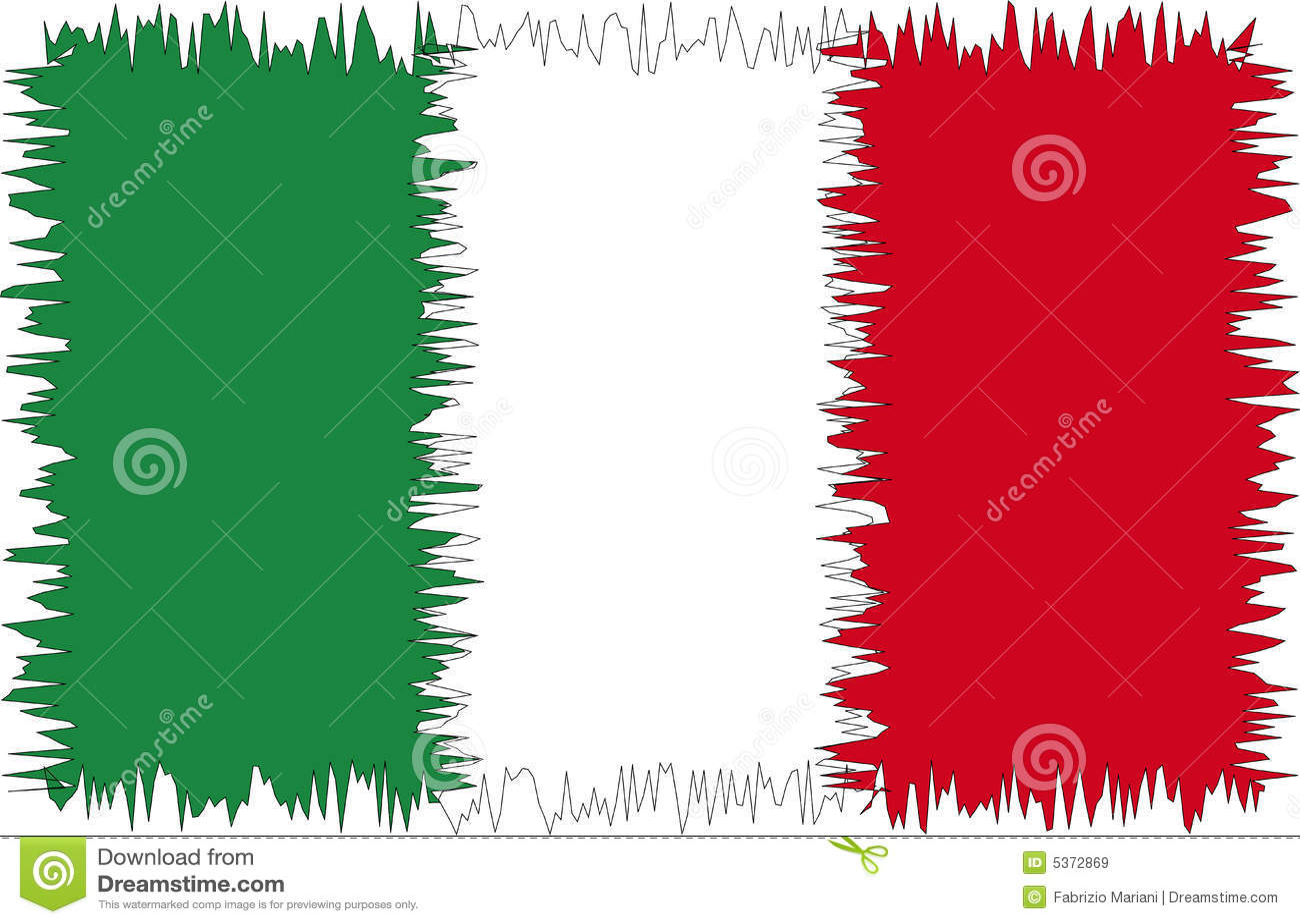 Italian Flag Border Italy flag stylized