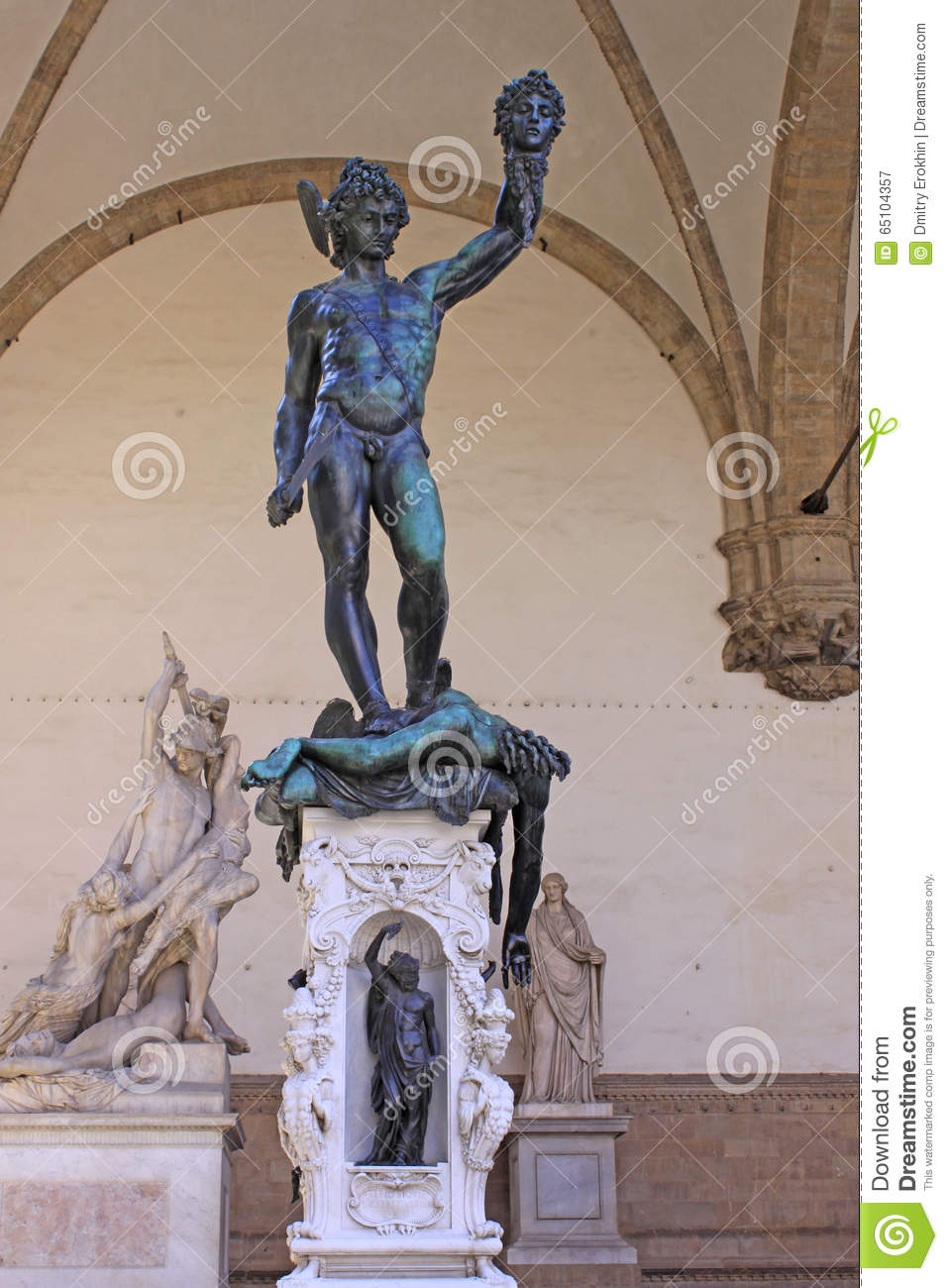 Italy Florence Loggia Lanzi The Sculpture Perseus With