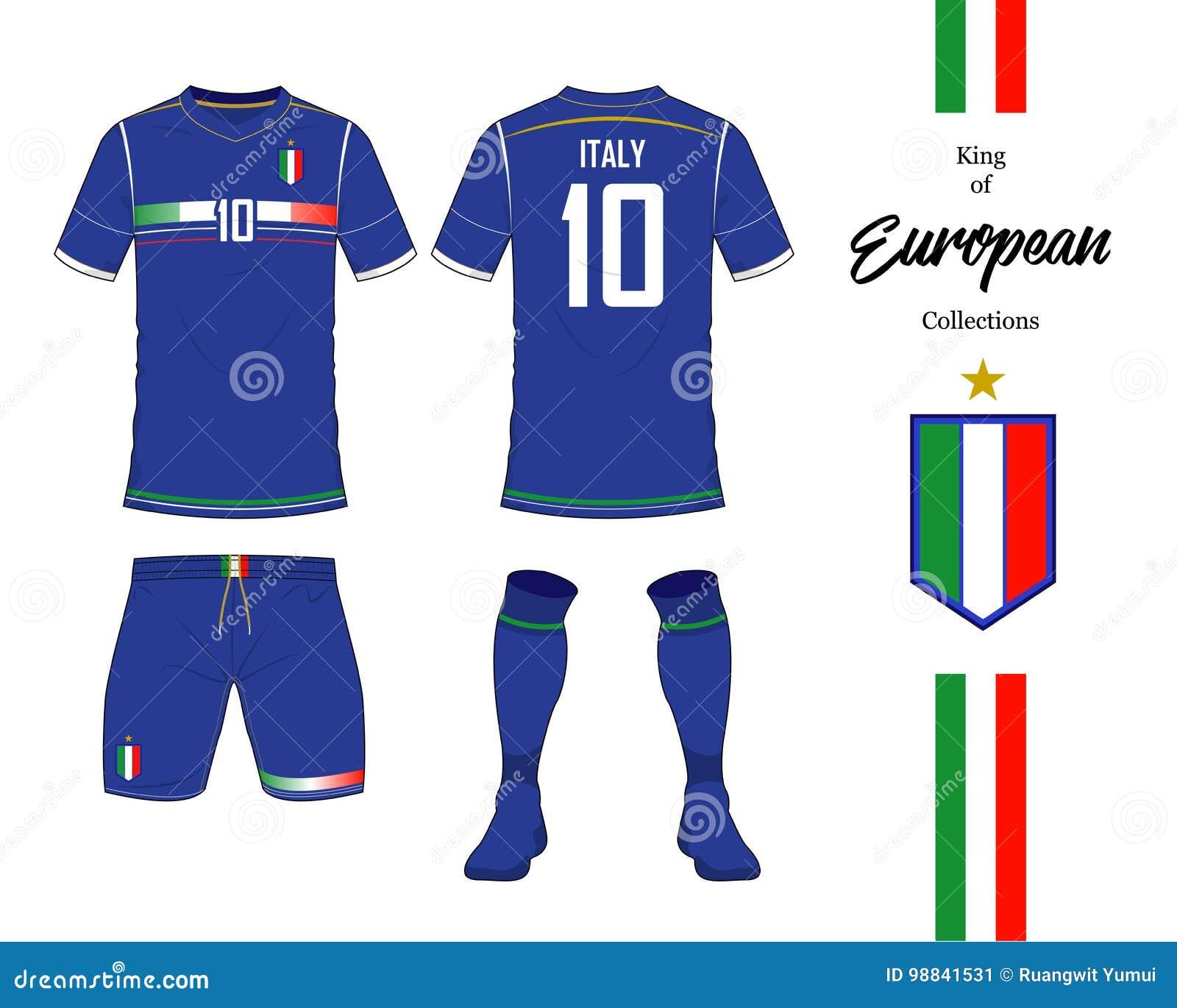 2ad13065f Italy Football National Team Uniform. Stock Vector - Illustration of ...