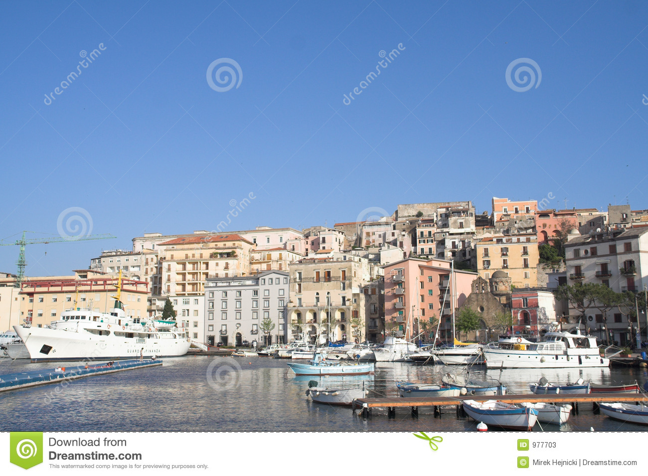 Italy - gaeta - historical city and harbour