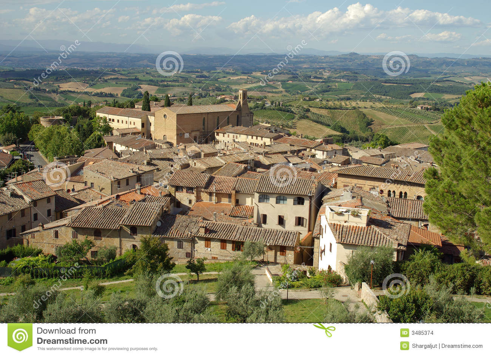 Italy gammal tuscany by