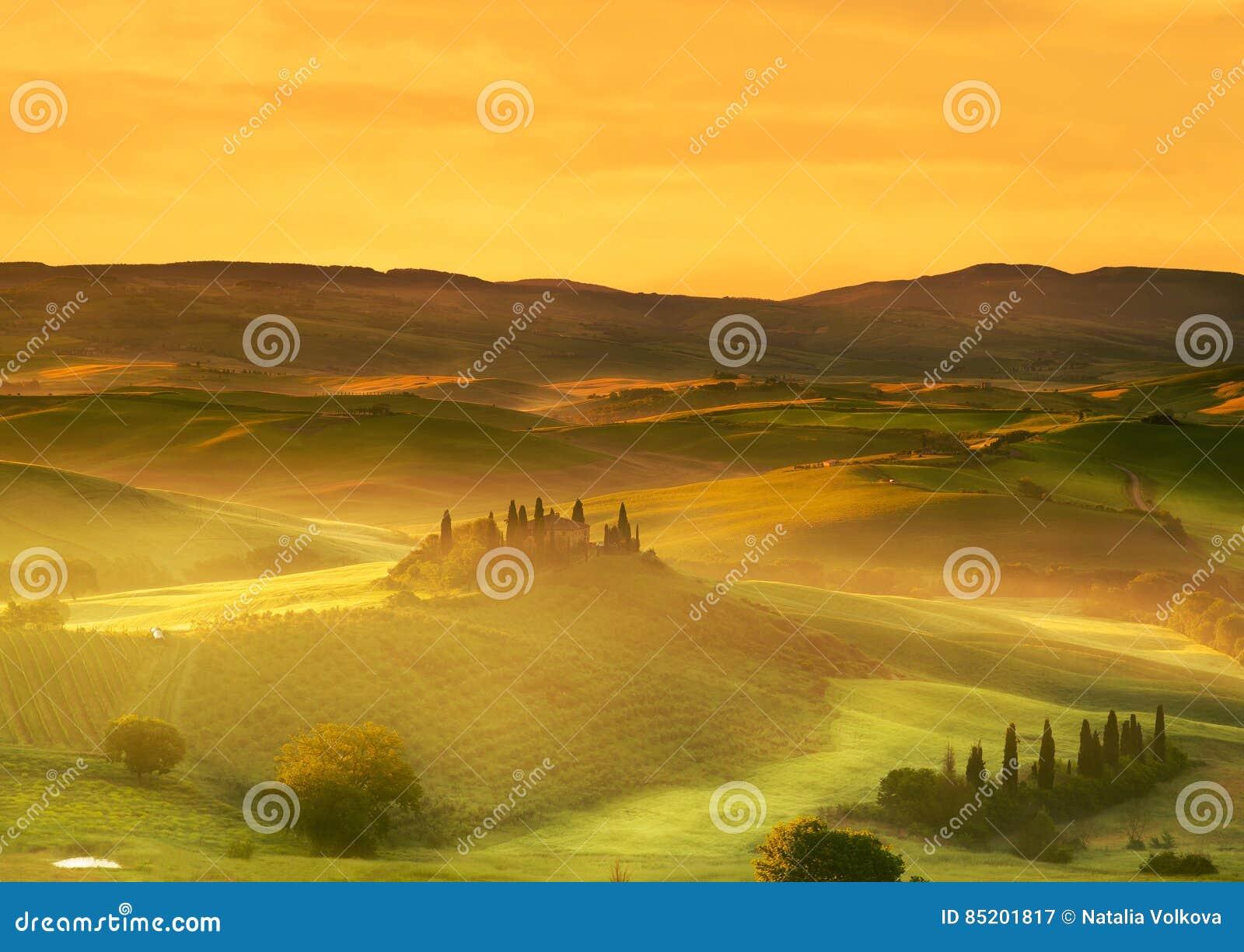 Italy Landskap av Tuscany