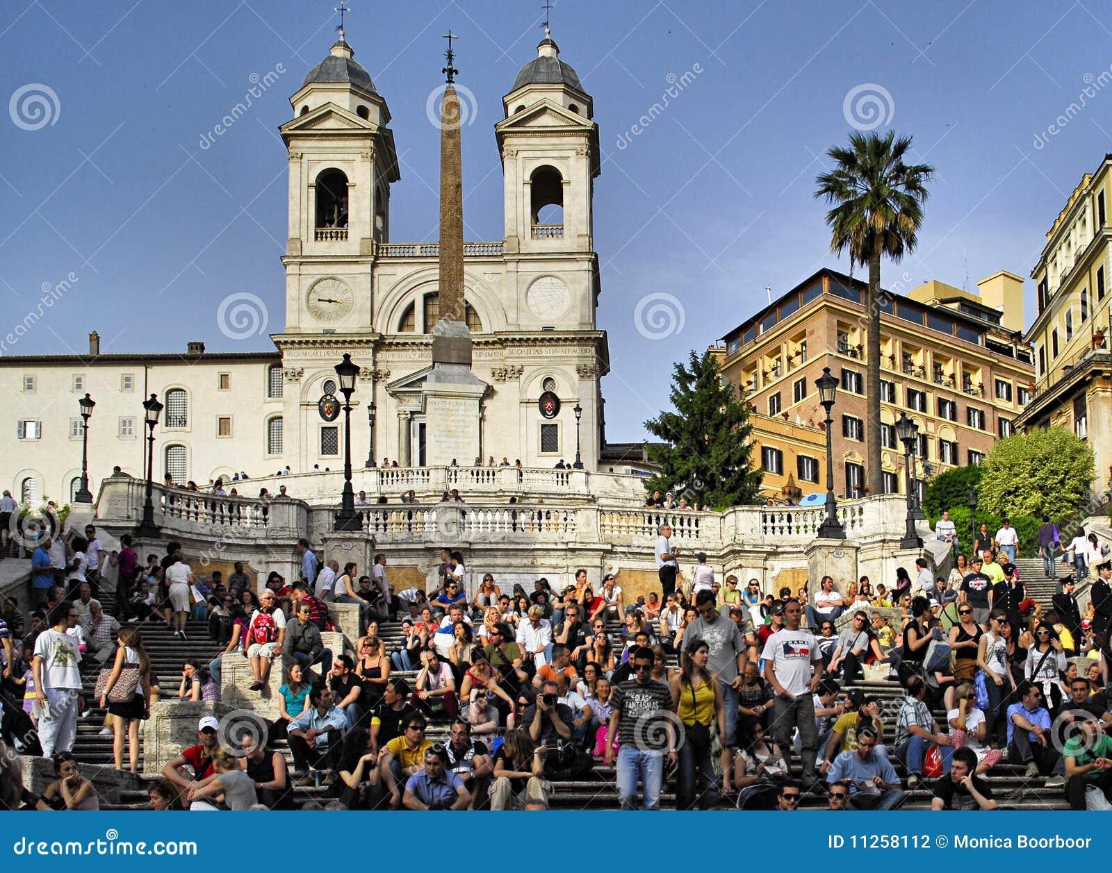 Italy ludzie Rome spanish kroków