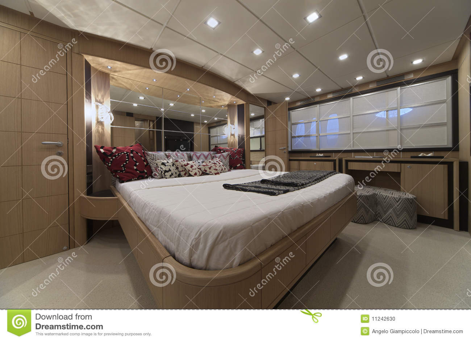 Bedroom Yacht Stock Image - Image: 26710871