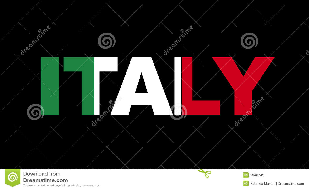 Italy Name With Flag Stock Photography Image 5346742