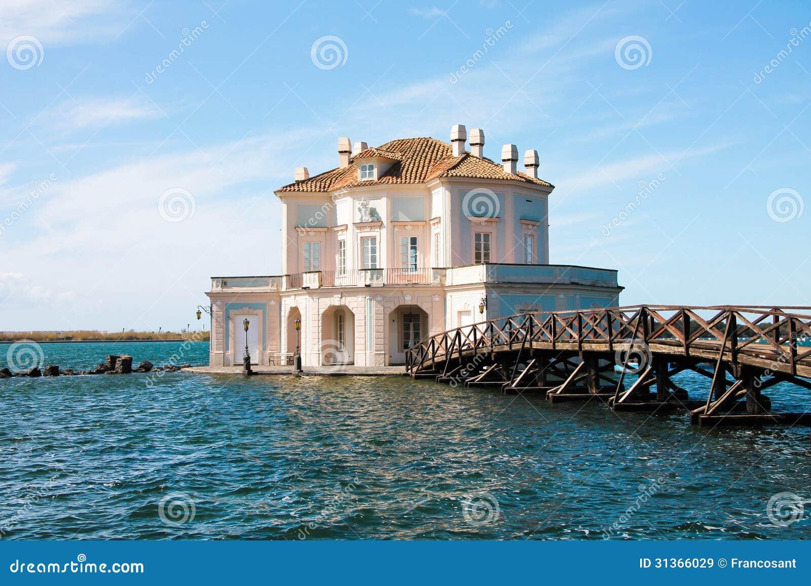 Italy - NAPOLI - Lago fusaro, Casina Vanvitelliana