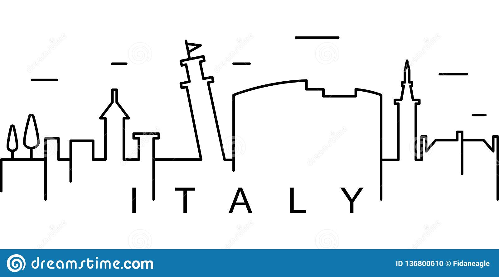 Italy outline icon. Can be used for web, logo, mobile app, UI, UX