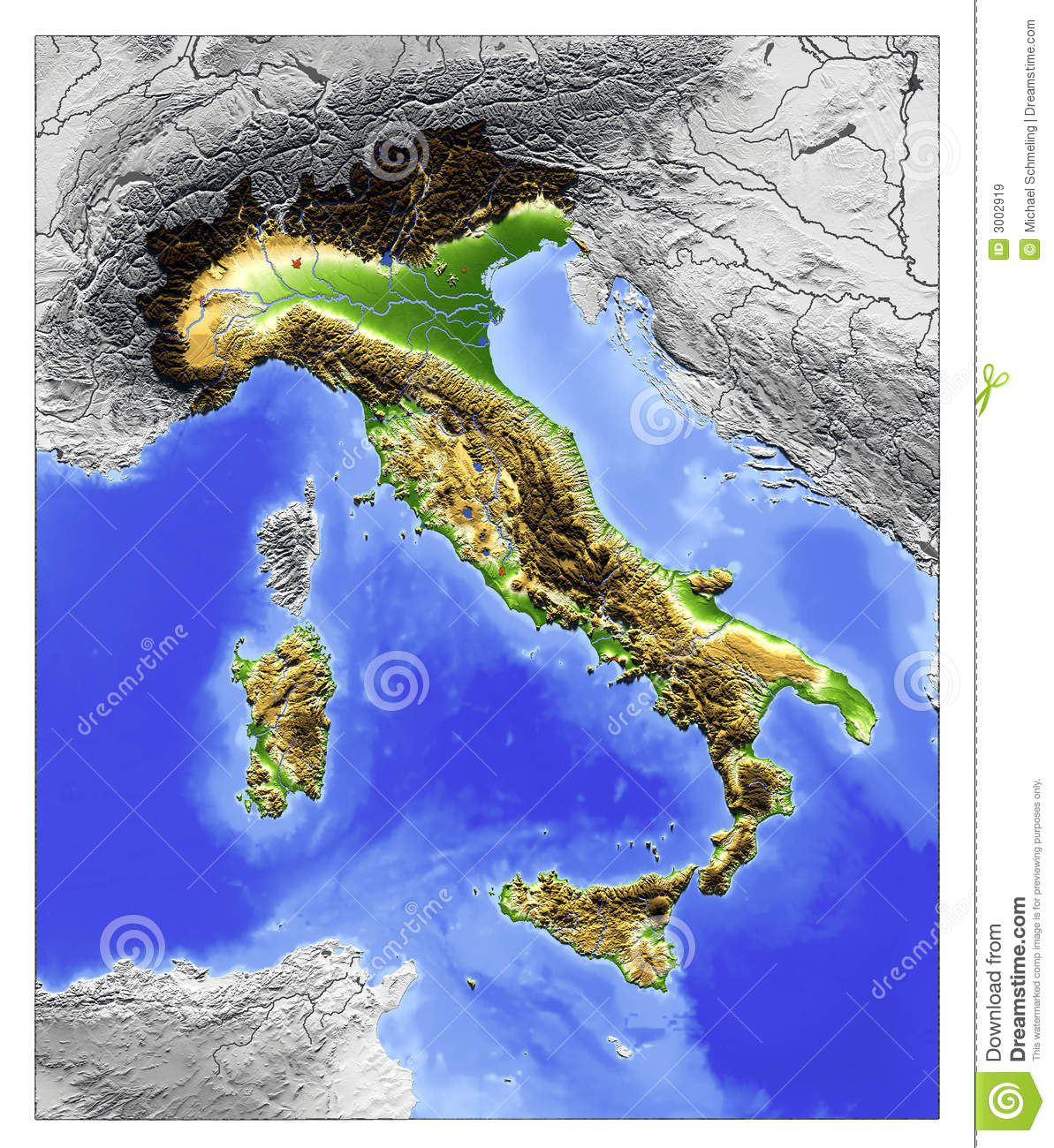 Italy relief map stock illustration illustration of world 3002919 download comp gumiabroncs Images