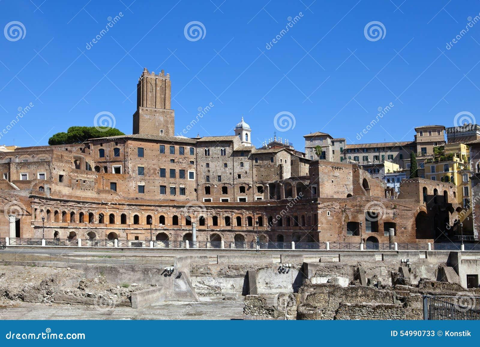 Italy roma ruínas do fórum de Trajan