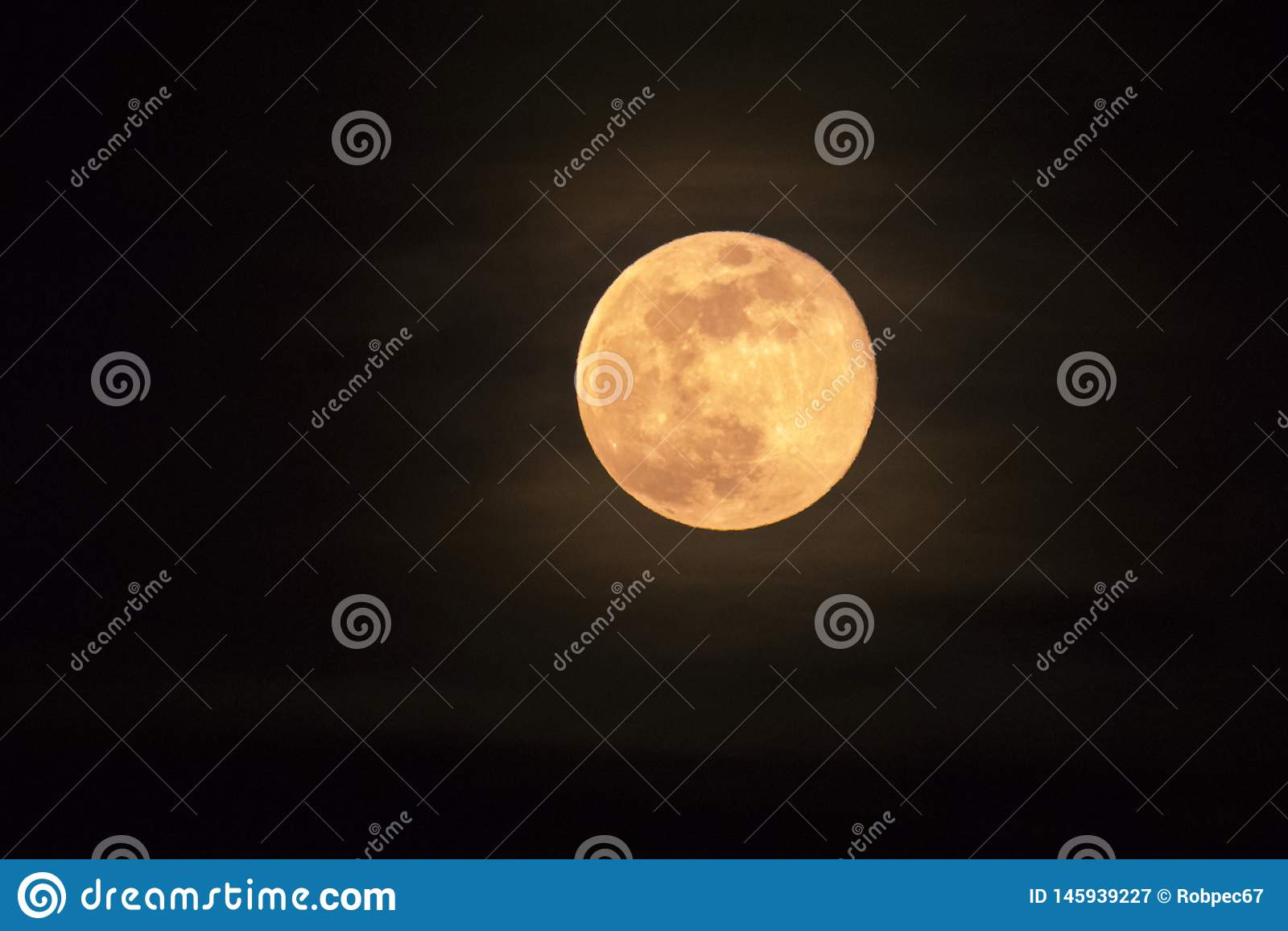 Italy Tuscany Castiglione della Pescaia, pink full moon night, panoramic night picture