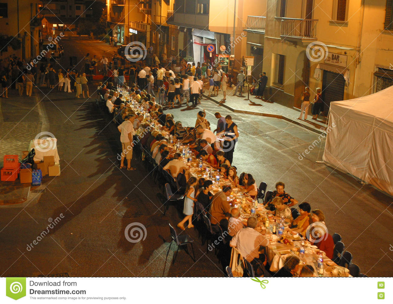 Italy,Tuscany,Florence, The Bagno A Ripoli Village, Dinner For The ...