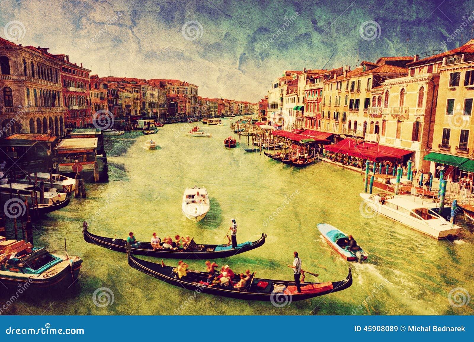 Italy venice kanalgondoltusen dollar Tappningkonst