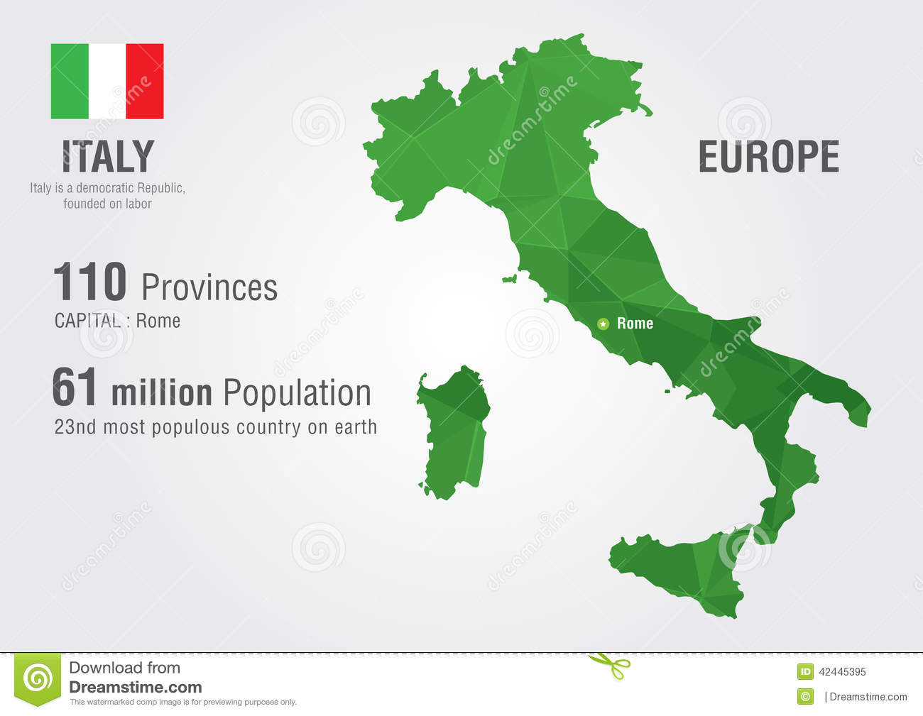 Italy world map with a pixel diamond texture stock vector italy world map with a pixel diamond texture stock vector illustration of rome abstract 42445395 gumiabroncs Images