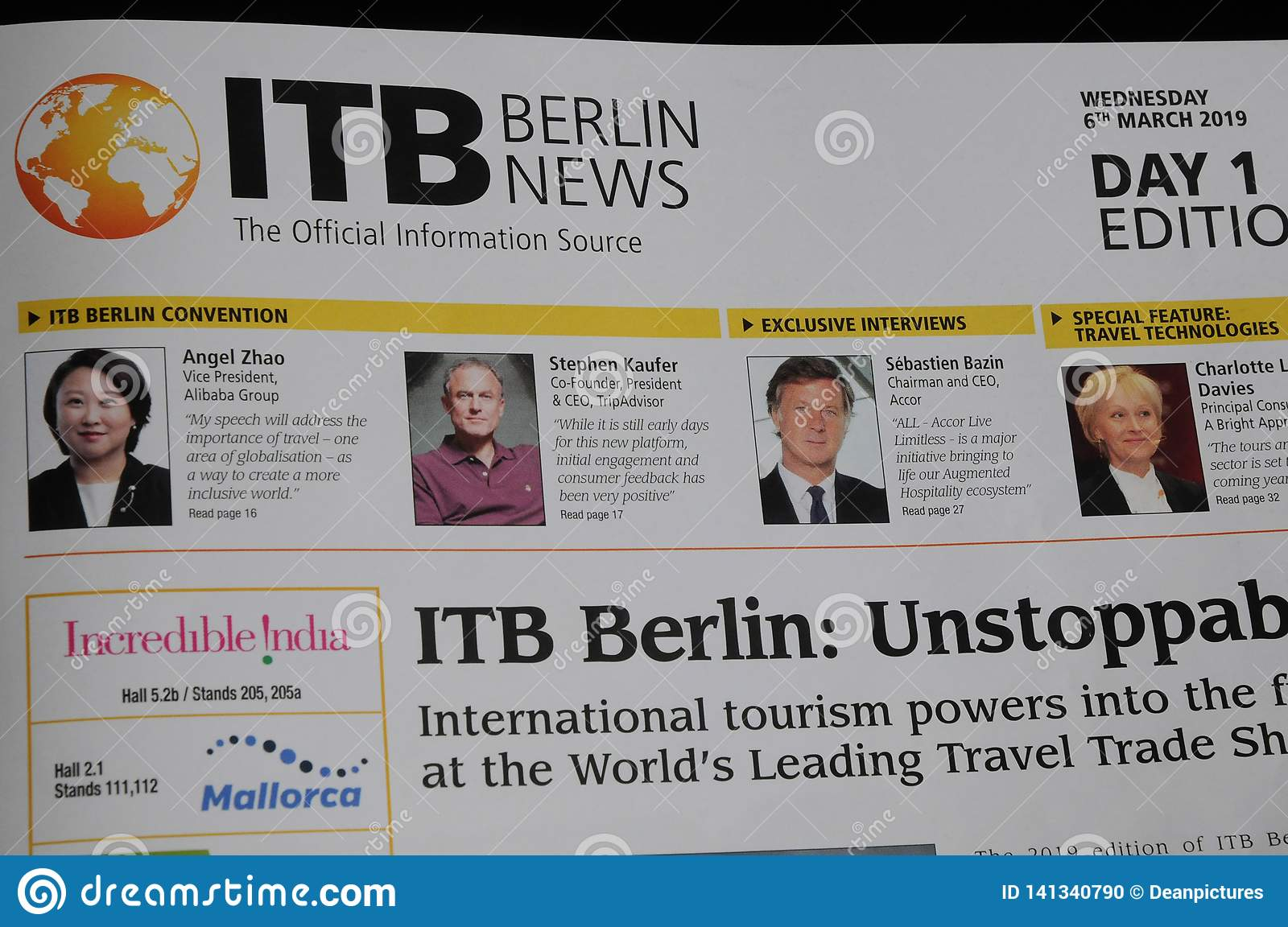 ITB BERLIN FOM MAERCH WORD TRADE TRAVEL SHOW Editorial Image - Image