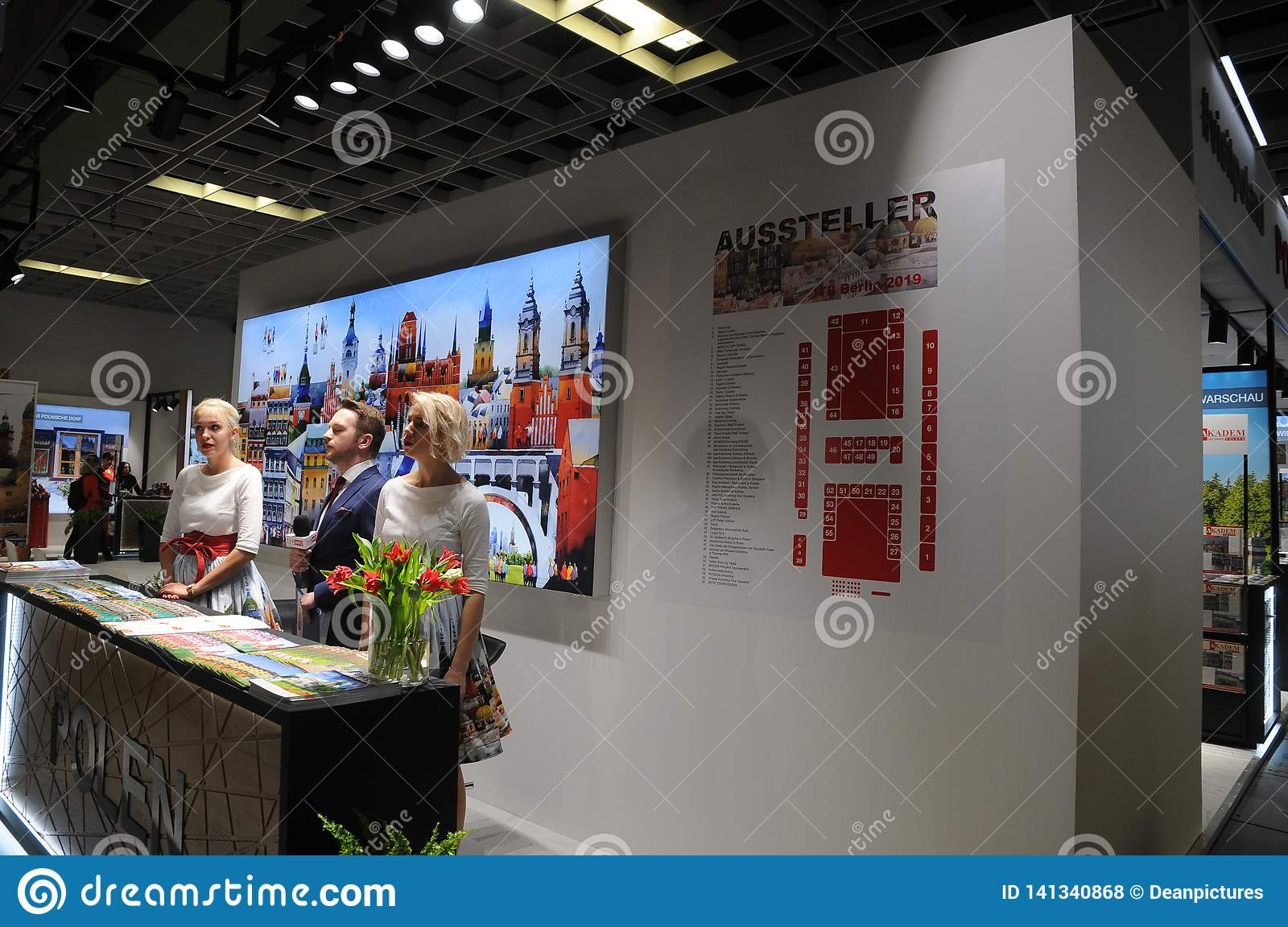 ITB BERLIN FOM MAERCH WORD TRADE TRAVEL SHOW Editorial Stock Photo