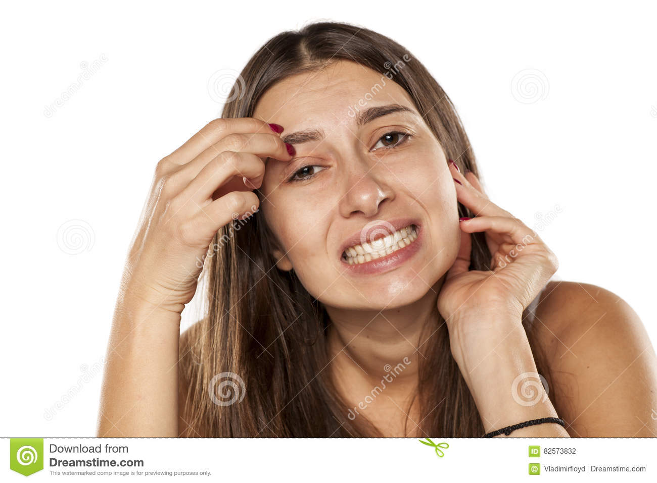 Itchy Eyebrows Stock Photo Image Of Attractive Eyebrow 82573832