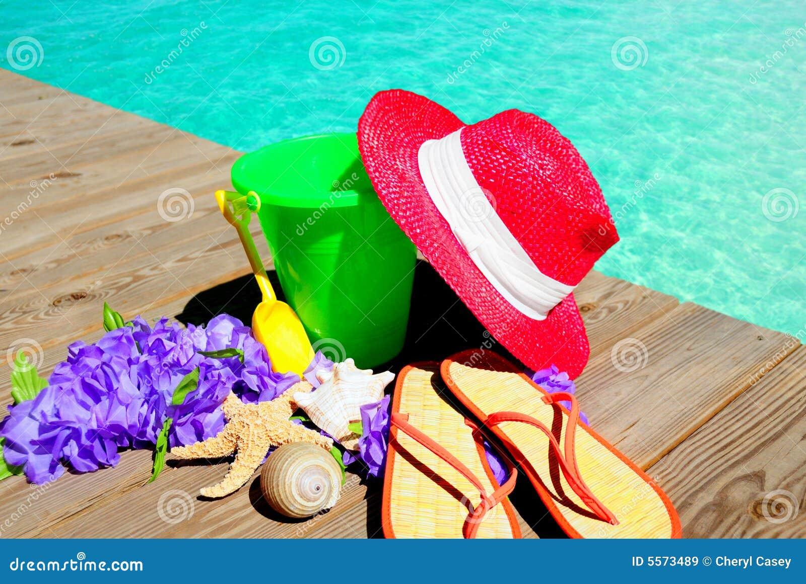 Items de la playa de Pool