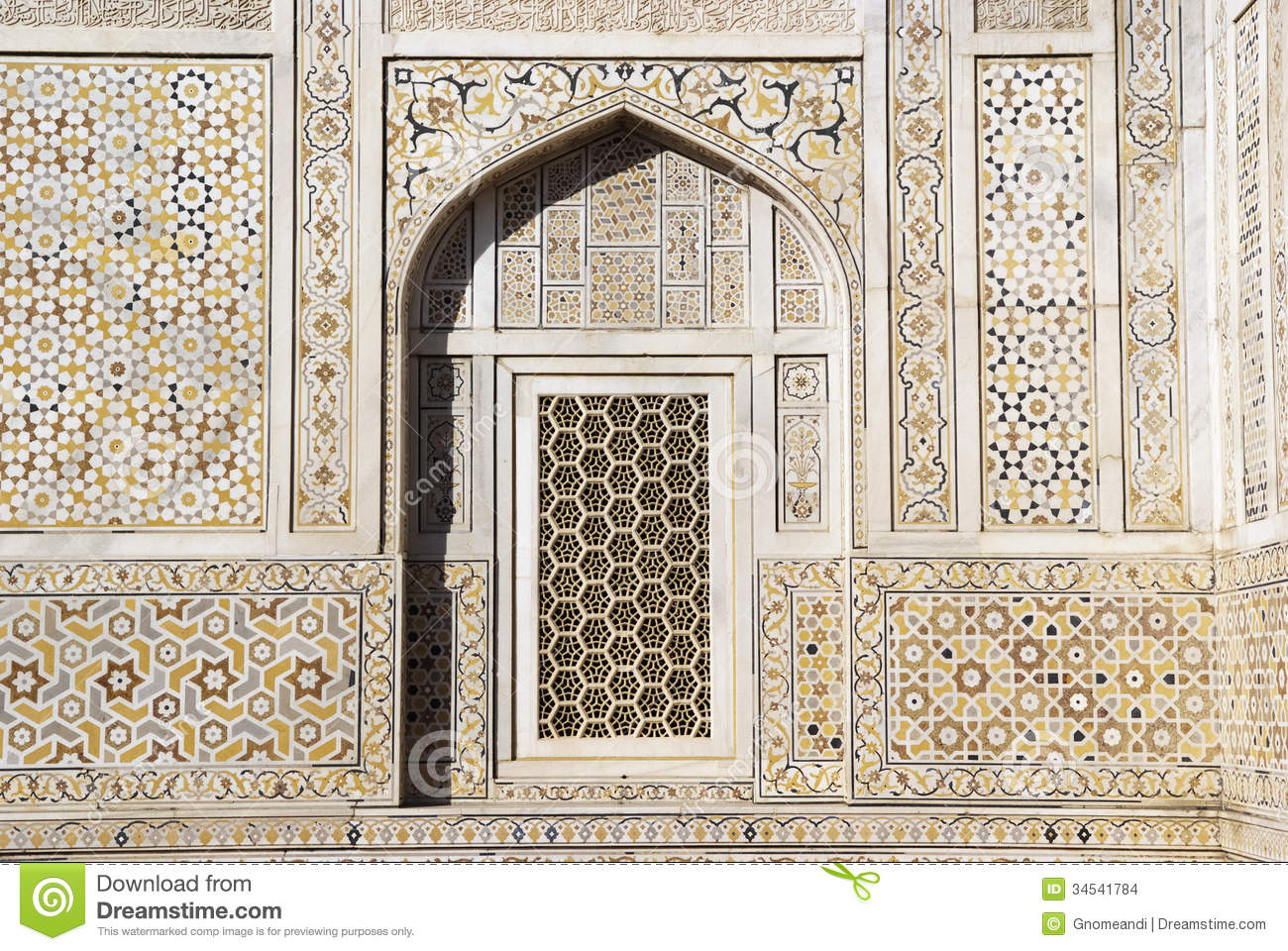 Itimad ud daulah tomb agra india stock images image for Outer wall design architecture