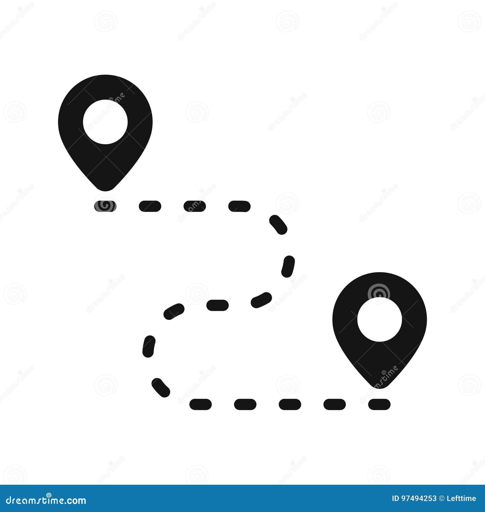 Itinerario dell icona di Pin
