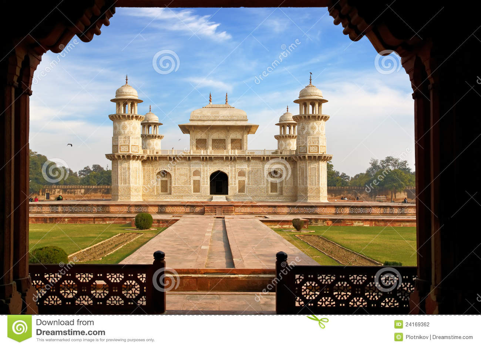 Itmad Ud Daula S Tomb Is A Mughal Mausoleum Agra Stock