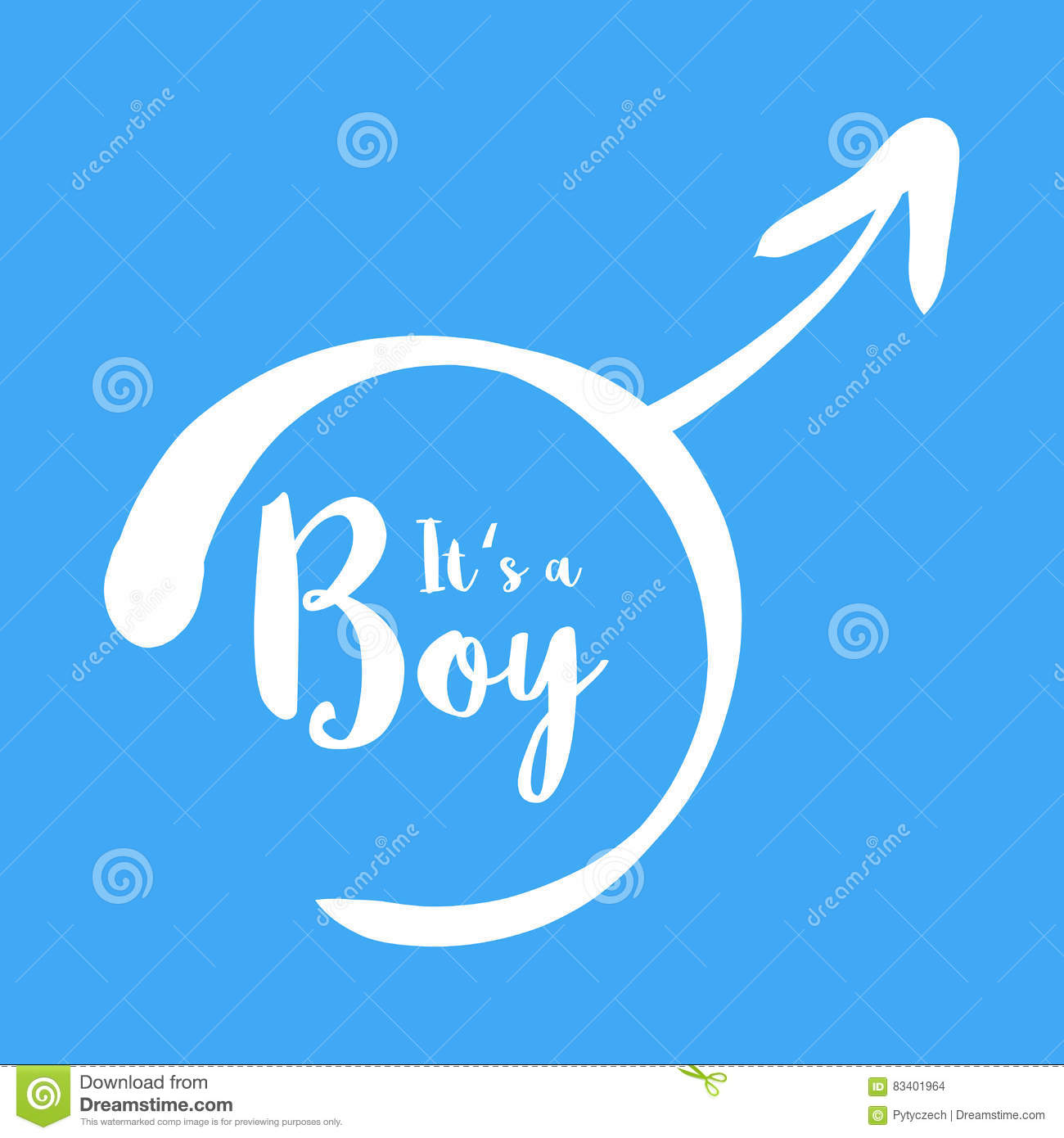 baby shower card its a boy flat design style vector illustration 37698790. Black Bedroom Furniture Sets. Home Design Ideas