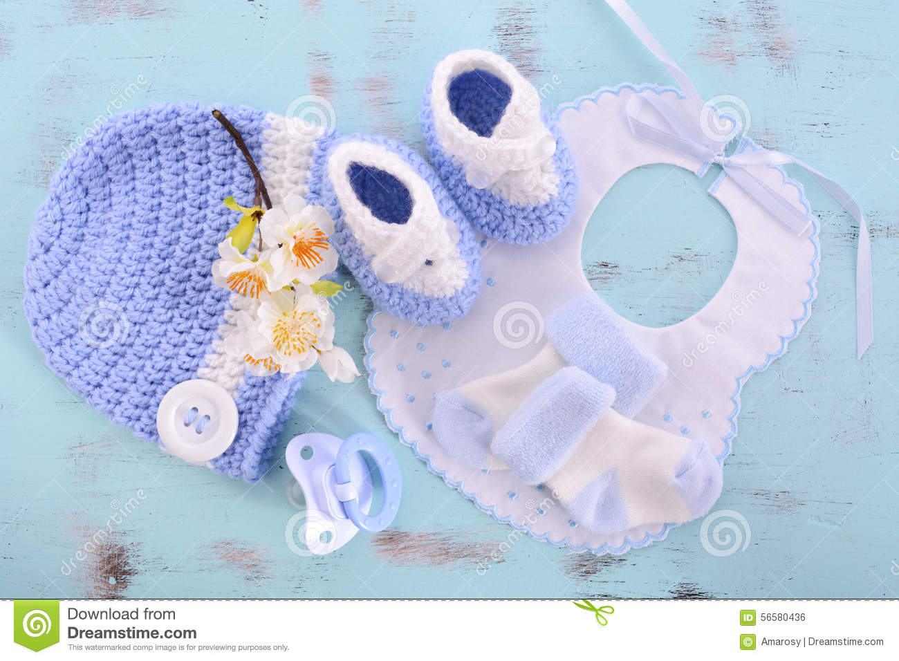 Its A Boy Baby Shower Or Nursery Background Stock Photo