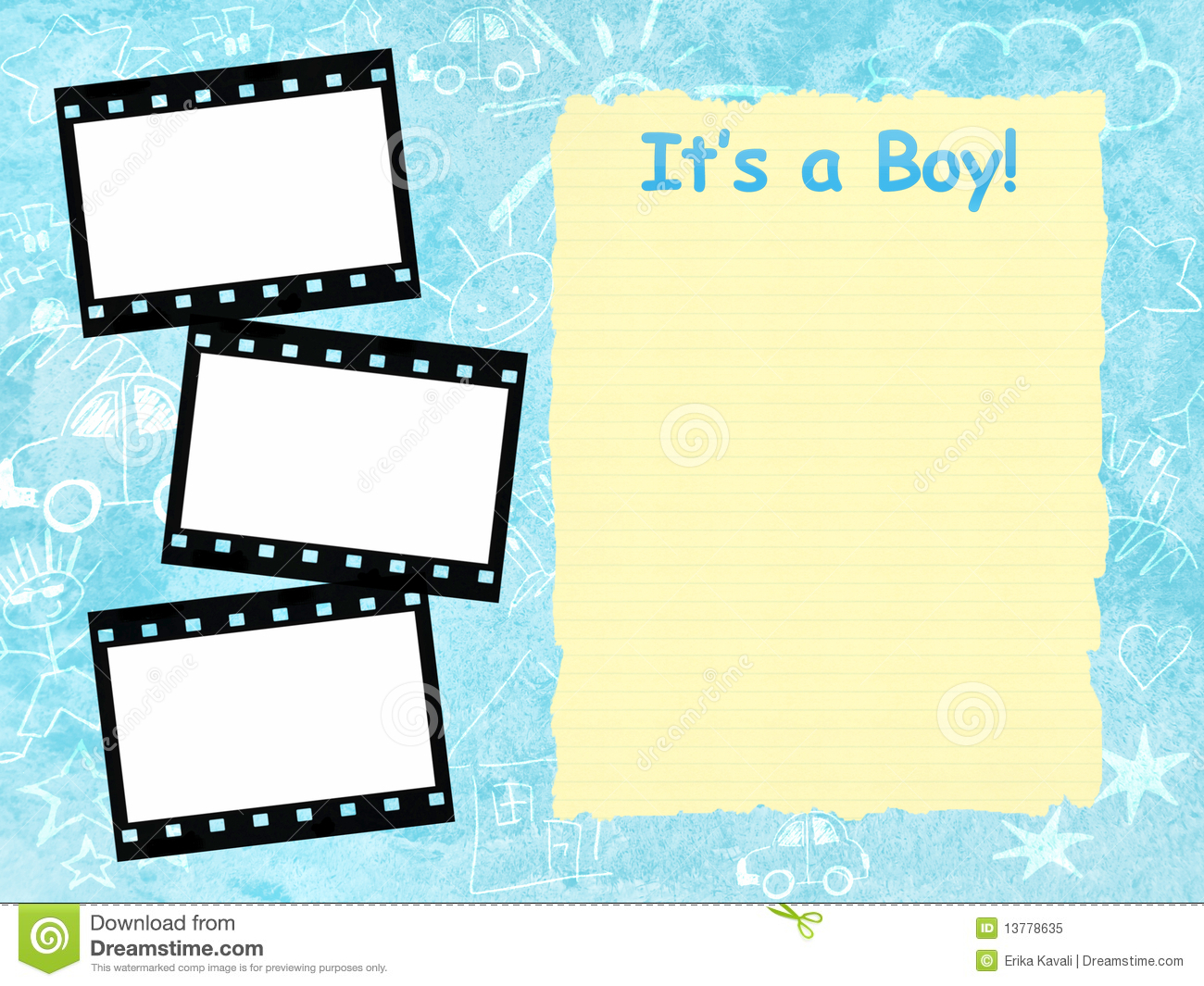 its a boy framework template stock illustration illustration of