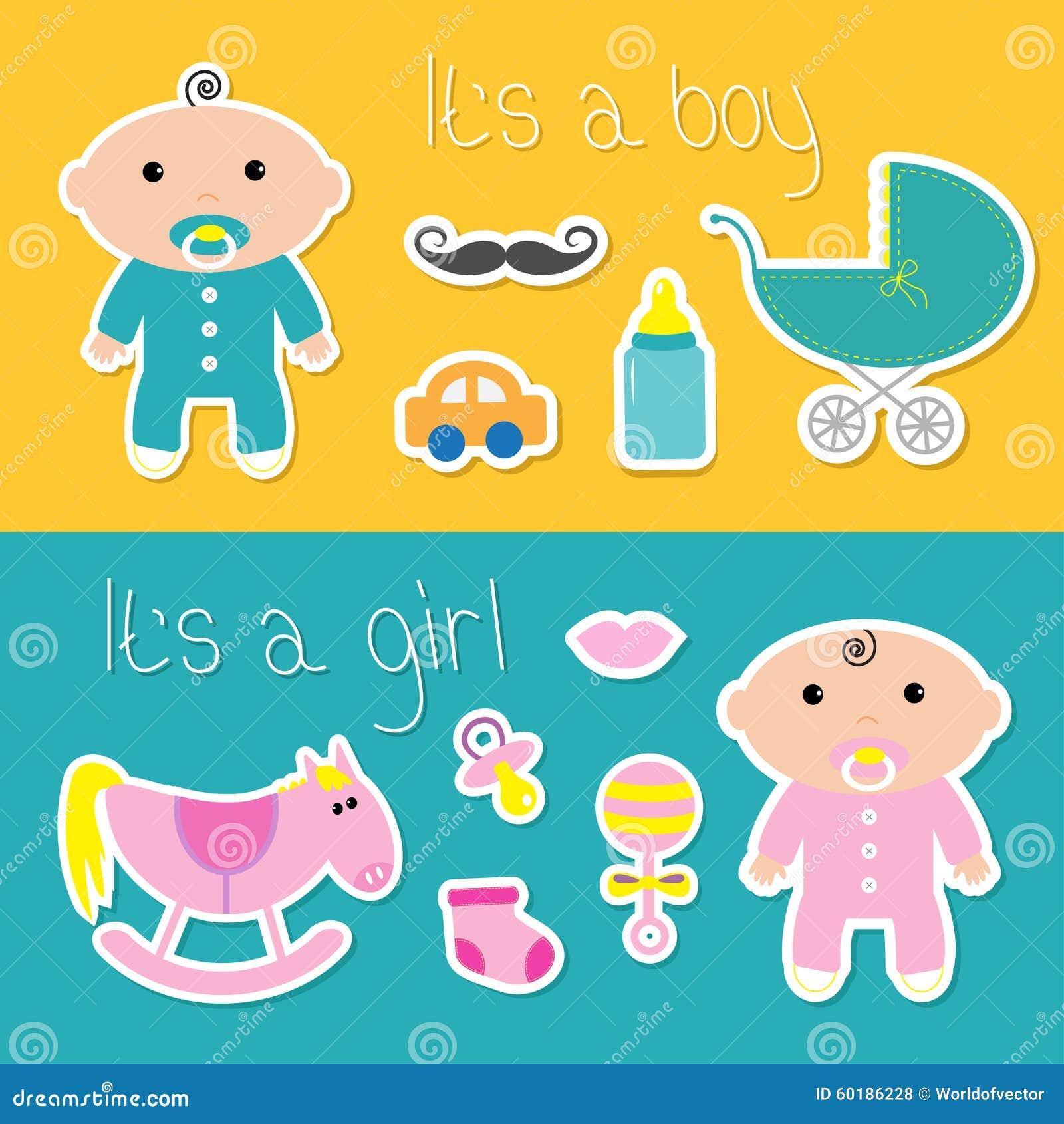 It S a Girl Banner Clip Art