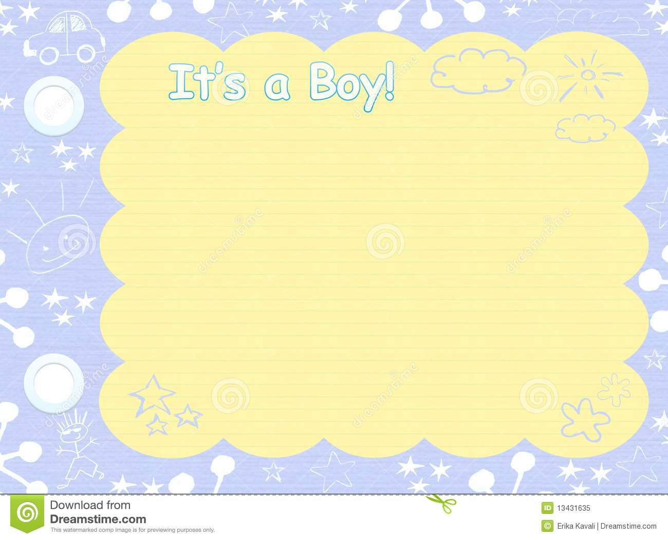 its a boy template stock illustration illustration of cute 13431635