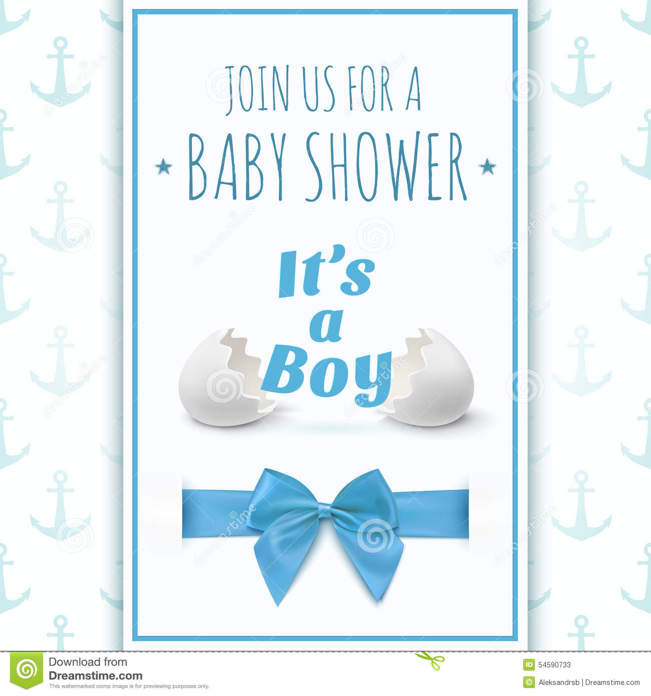 its a boy template for baby shower celebration stock vector image