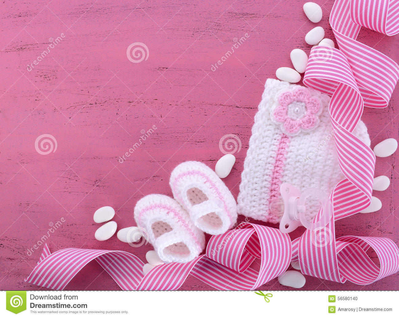 Its A Girl Baby Shower Or Nursery Background Stock Photo