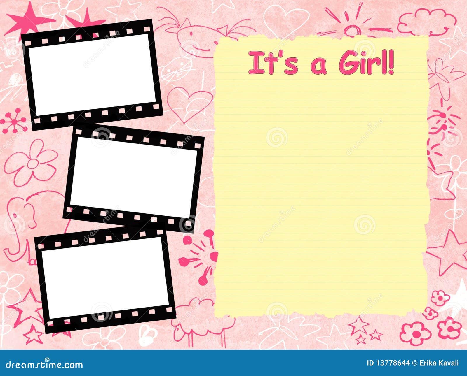 Its A Girl Banner Template Its a girl framework template