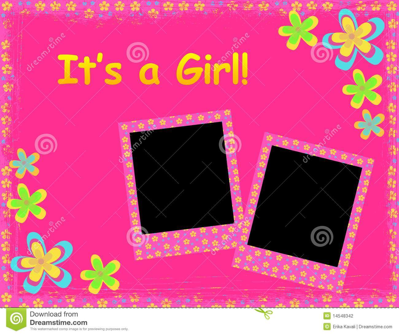 Its A Girl Banner Template Its a girl temp...