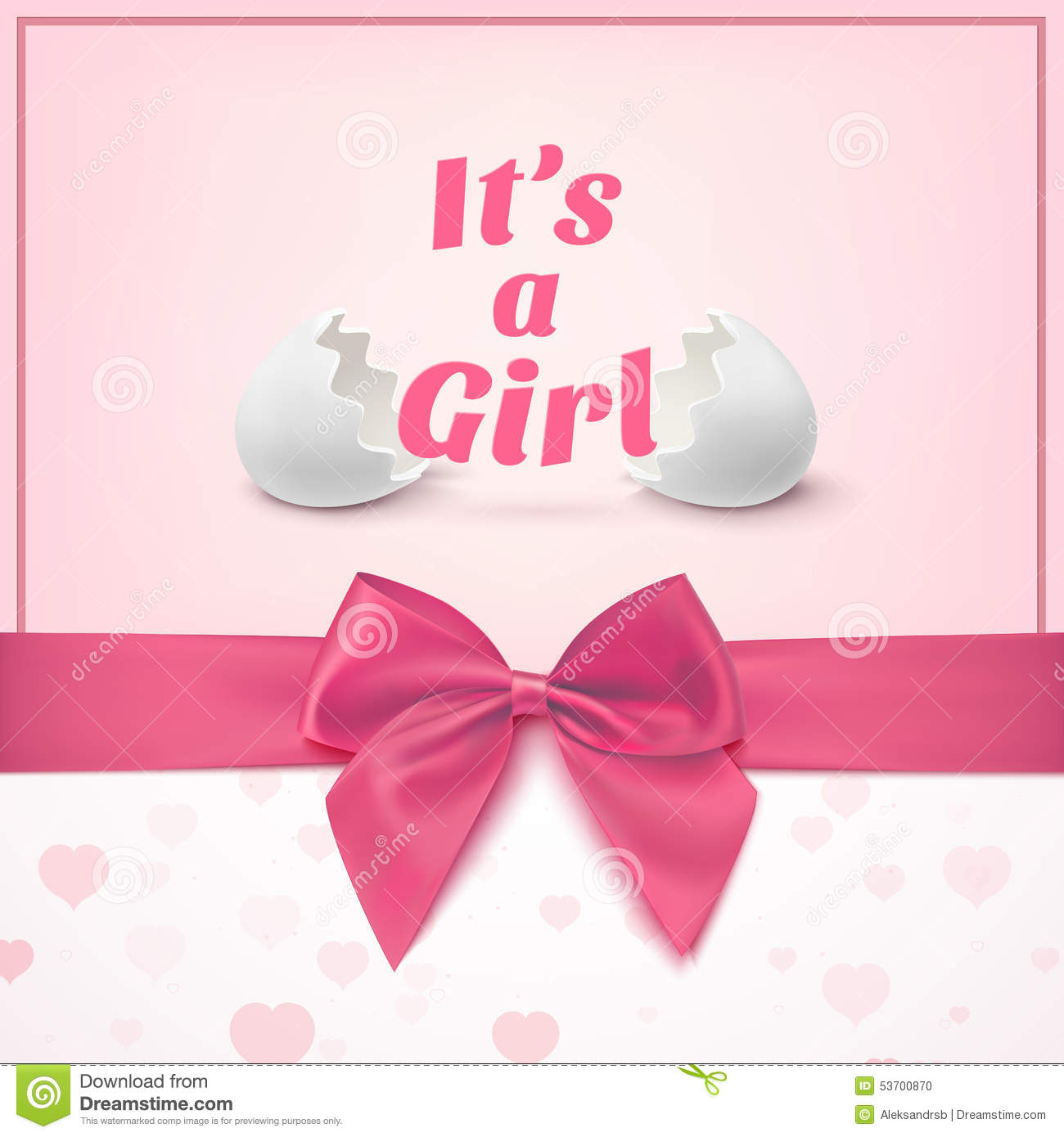 its a girl template for baby shower celebration stock vector