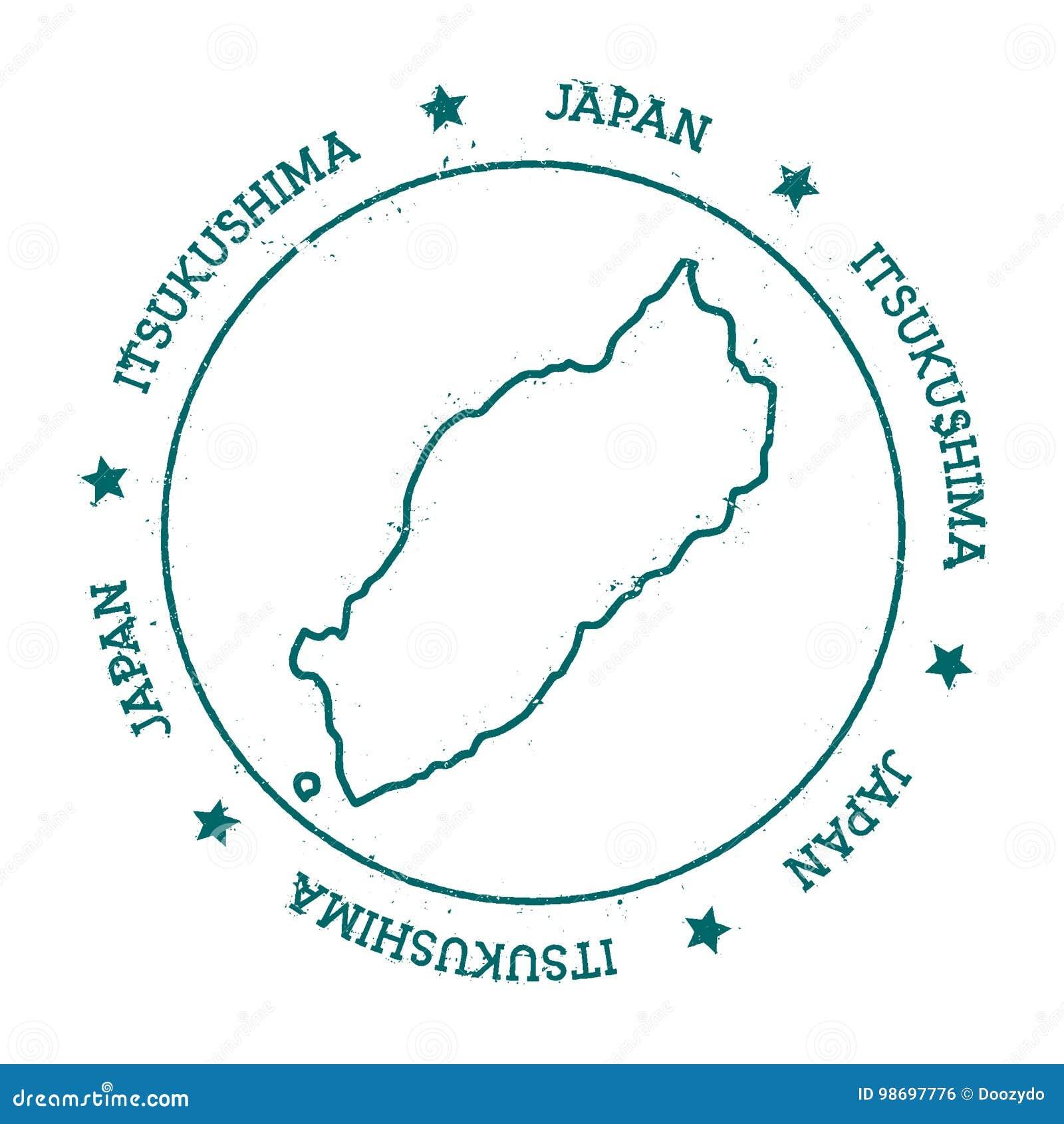 Itsukushima vector map stock vector Illustration of international